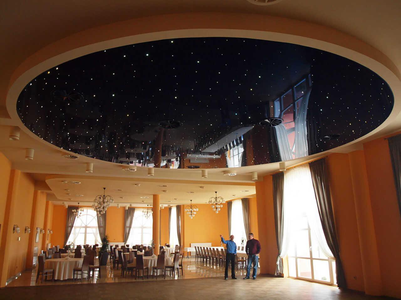 Dvouúrovňové napínané stropy